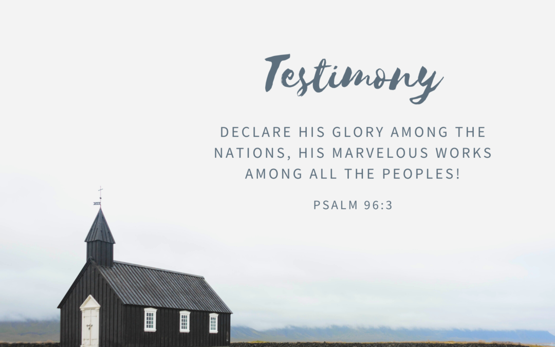Testimony – Old Hickory
